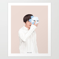 BTS Taehyung | Singularity Art Print by marylobs