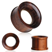Organic Sono Wood Flesh Tunnel Plug with Double Flares
