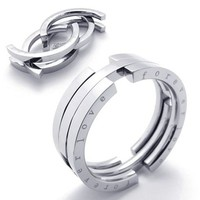 Folding Stainless Steel Men's Ring - RIN-3070