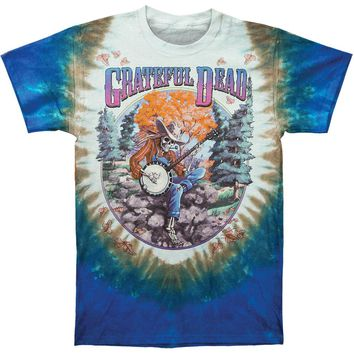 Grateful Dead Men's  Banjo Tie Dye T-shirt Multi