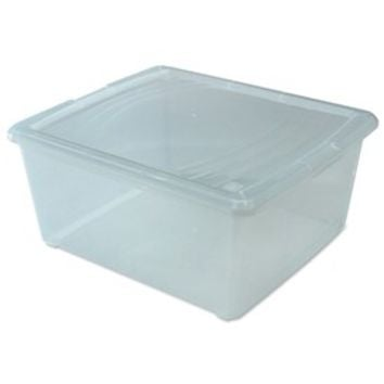 Clear Plastic Box - Medium Sweater