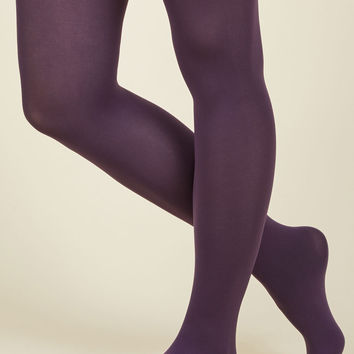 Accent Your Ensemble Tights in Grape | Mod Retro Vintage Tights | ModCloth.com