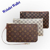 Louis Vuitton LV Fashion Women Leather Print Two Piece And Key Pouch-Coin Purse I