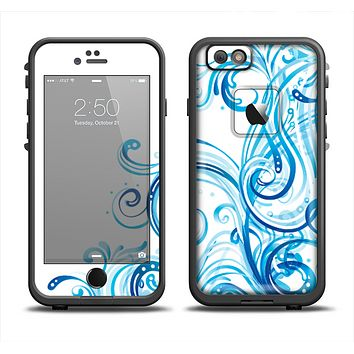 The Swirly Vector Water-Splash Pattern Apple iPhone 6 LifeProof Fre Case Skin Set