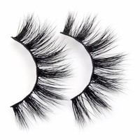 False Eyelashes Handmade Mink Eyelashes Crisscross Eyelashes Beauty False Lashes Wispy Lashes Maquillaje Makeup Accessories D121