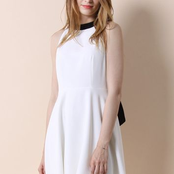 Back in Charm Flare Dress in White