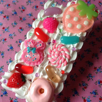 Kawaii Cute Decoden Jelly Bean Candy Sweet Food Whipped Cream iPhone 5 Cell Phone Case