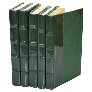 Patent-Leather Books, Ivy, Set of 5, Decorative Books & Bindings