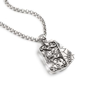 Dragon Cutout Dog Tag Necklace