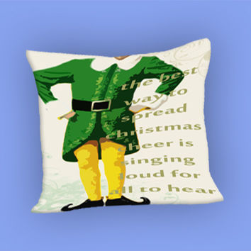 Christmas elf custom for Pillow Case, Pillow Cover, Custom Pillow Case **