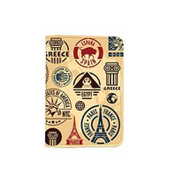 Travel The World Famous Destinations [Name Customized] Leather Passport Holder/Cover /Wallet_SCORPIOshop