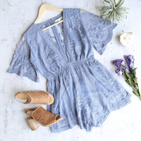 as you wish embroidered lace romper (women) - more colors