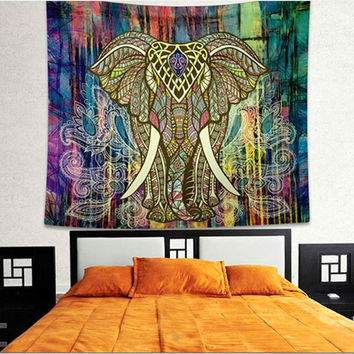 Elephant Square Beach Towel Blanket