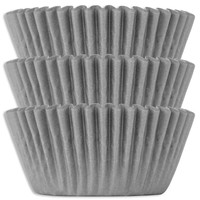 Gray Shimmer Baking Cups