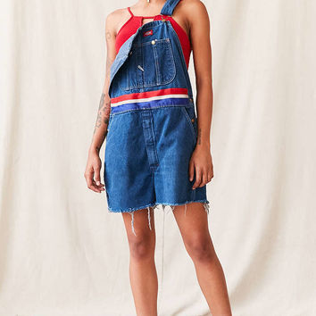 Vintage Dickies Red White + Blue Shortall Overall - Urban Outfitters