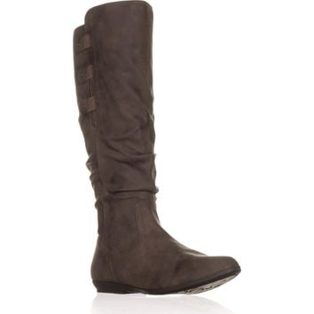 Cliffs White Mountain Felisa Flat Knee-High Boots, Brown, 9.5 US