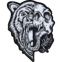 Fatal Bear Skull Sticker Black One Size For Men 23616010001