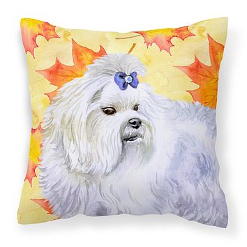 Maltese Fall Fabric Decorative Pillow BB9912PW1414