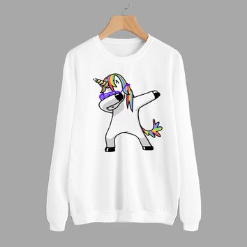 Women's Fashion Anime Round-neck Long Sleeve Hoodies [11624149908]