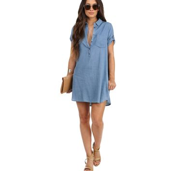 Blue In The Cool Denim Tunic