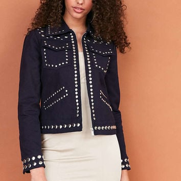 Ecote Studded Zip-Up Jacket - Urban Outfitters