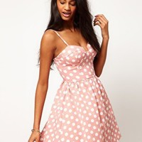 Rare | Rare Spot Bustier Skater Dress at ASOS