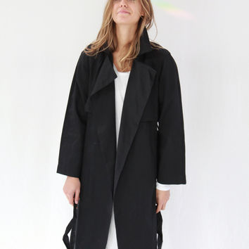Kowtow Keepsake Trench Coat Black