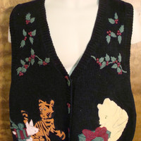 WINNIE THE POOH Ugly Christmas Sweater Vest
