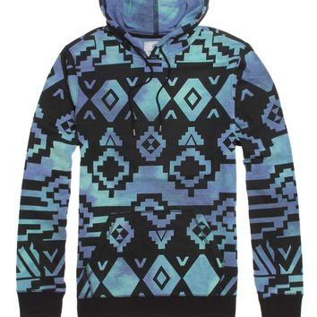 On The Byas Reese Tie Dye Pullover Hoodie - Mens Shirt - Blue