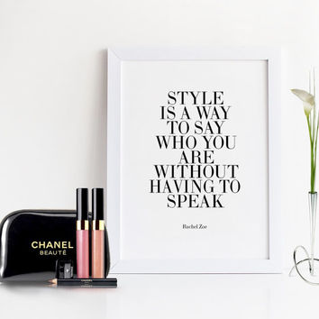 FASHION WALL ART,Inspirational Quote,Fashionista,Fashion Poster,Affiche Scandinavian,Fashionista,Chic,Fashion Decor,Fashion Print,Rachel Zoe