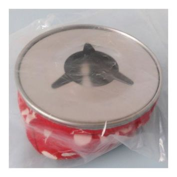 Marine Bean Bag Style Ashtray Canvas and Stainless Steel