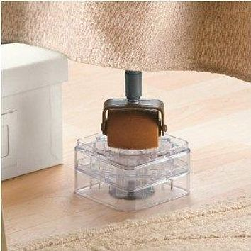 Clear Bed Risers - Set of 8 - Stack-able Interlocking Design