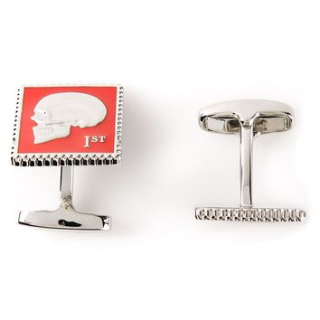 Paul Smith 'Skull Stamp' cufflinks