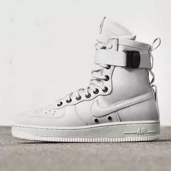 PEAPON Nike Air Force 1 AF1 High Tops White For Women Men Running Sport Casual Shoes Sneakers