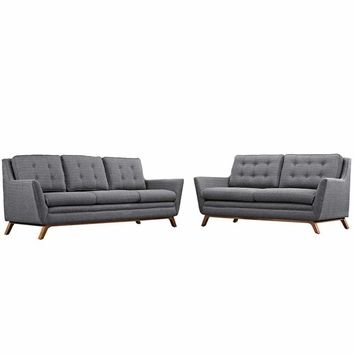 "Beguile Living Room Set Upholstered Fabric Set of 2, Gray Size : 36""Lx83.5""Wx34.5""H"