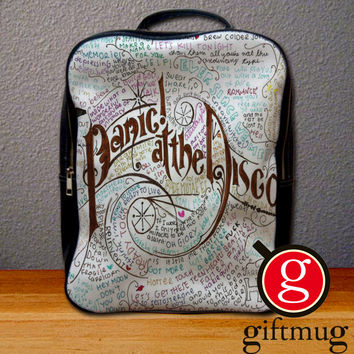 Panic at The Disco Lyric Backpack for Student