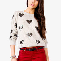 Sequined Hearts Sweatshirt