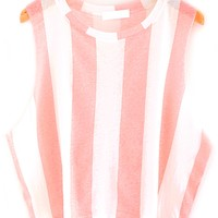 Fresh Color Striped Cropped Tank