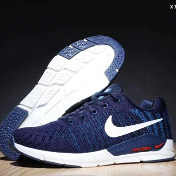 Nike LUNARGLIDE 16 men and women moon fly line running shoes F-SSRS-CJZX Blue