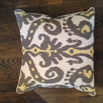 Gray & Yellow Ikat