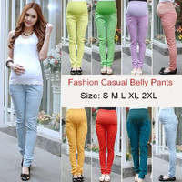 Autumn and Winter Cotton Maternity Casual Pencil Pants Legging Clothes For Pregnant Women Skinny Belly Trousers For Pregnancy = 1946569156