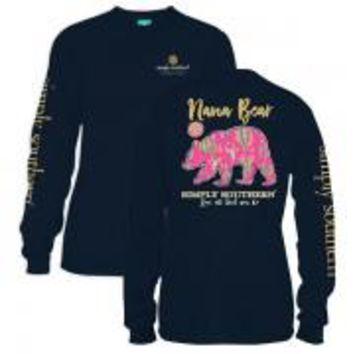 *Closeout* Simply Southern Long Sleeve Tees-Nana Bear