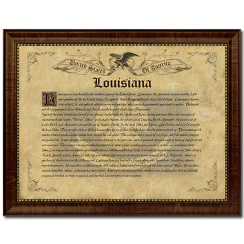Louisiana Vintage History Flag Canvas Print, Picture Frame Gift Ideas Home Décor Wall Art Decoration