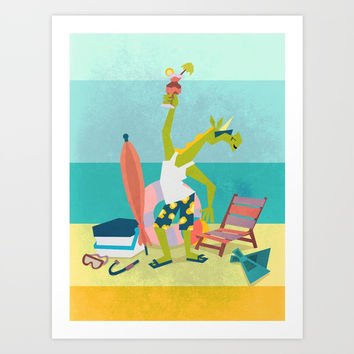 Ready For Unicorn Summer Art Print by That's So Unicorny