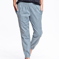 Old Navy Womens Pull On Denim Joggers