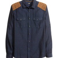 H&M - Cargo Shirt - Dark denim blue - Men