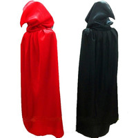Red Black Stain Cape Hooded Halloween Costumes for Women Men Fantasia Fancy Carnival maid party Witch Cloak S-XL = 1837901700