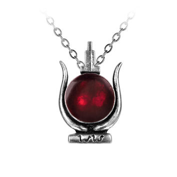 Alchemy Gothic Cult of Aset Red Pendant Necklace