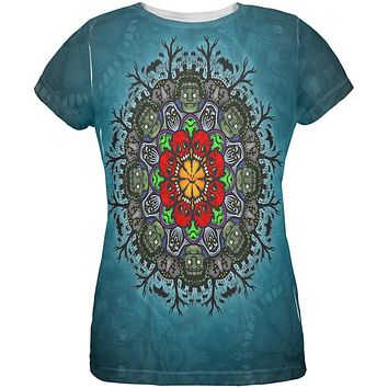 Halloween Classic Movie Monster Mandala All Over Womens T Shirt