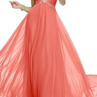 Angel Bride Beaded Bust Sweetheart Prom Dress Long 2015 Bridesmaid Gown